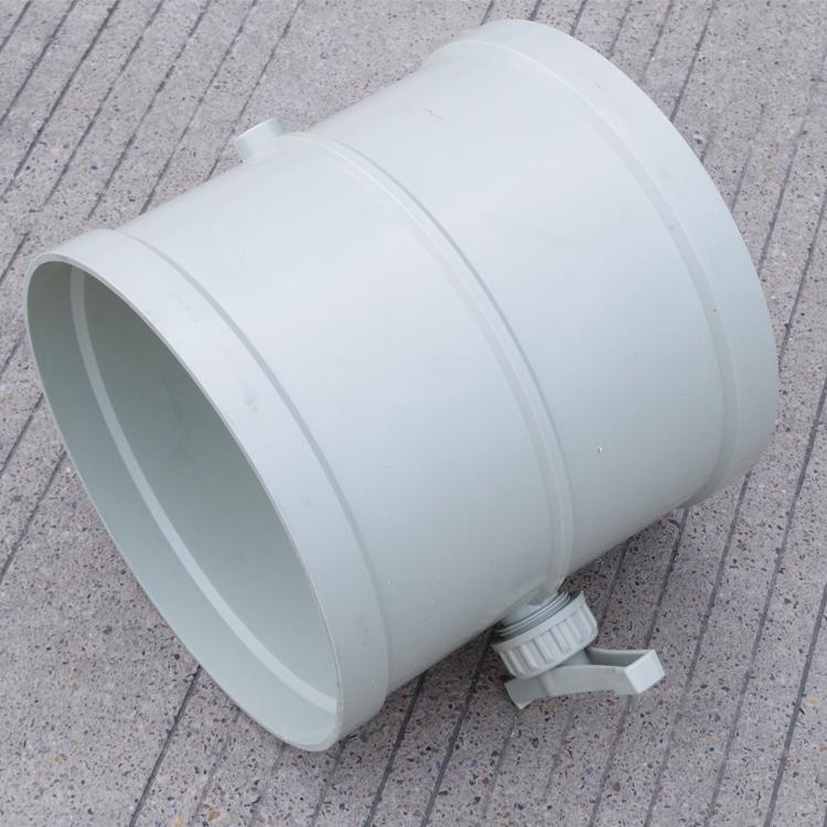 塑料手動調節風閥風管 風量調節承接法蘭口PP風量塑料閥管